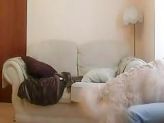 Perro con dos mujeres