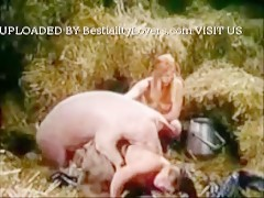 Bodil & Friend With Pig